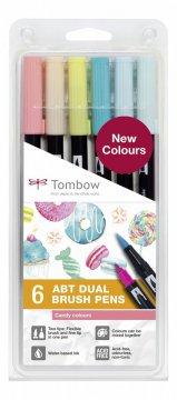 Tombow Set obostranih flomastera ABT Dual Brush Pen – Candy colours, 6 kom.