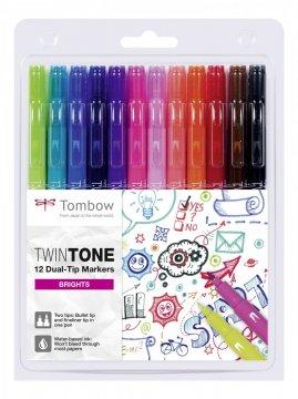 Tombow Set obostranih flomastera TwinTone, Brights