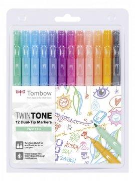 Tombow Set obostranih flomastera TwinTone, Pastels